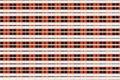 白色橙色检查正方形映象点样式 免版税库存照片