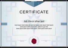 白色正式证书 免版税库存照片