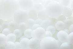 白色气球背景  免版税库存图片