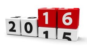 白色求2016年的立方 免版税库存图片