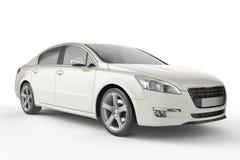 白色汽车嘲笑在白色背景, 3D例证 皇族释放例证