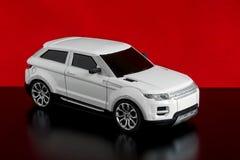 白色汽车的模型 免版税图库摄影