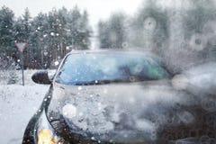 白色汽车 免版税库存图片