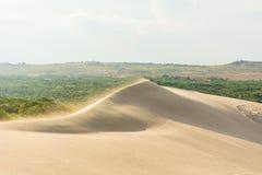 白色沙丘在,美奈,越南 免版税库存照片