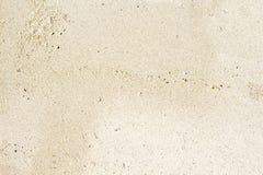 白色沙子海滩顶视图照片 光滑的珊瑚沙子纹理 海边旅行癖与文本地方的横幅模板 图库摄影