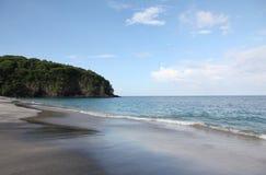 白色沙子海滩巴厘岛 库存图片