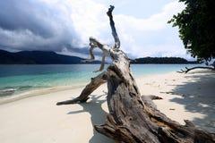 白色沙子海滩在Adang Rawi海岛, Tarutao国家公园, Sa 库存图片