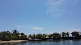 白色沙子海滩天堂假期 库存图片