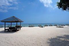 白色沙子海滩 图库摄影