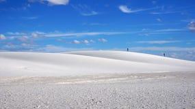 白色沙子,新的Mexi 免版税库存图片