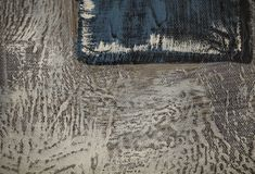 白色油漆污迹在米黄和蓝色背景的 库存图片