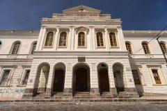 白色洗涤建筑学在伊瓦拉厄瓜多尔 免版税库存图片