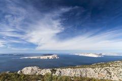 白色海岛 库存图片