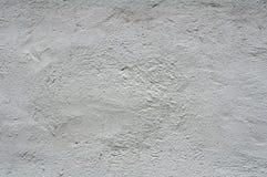 白色涂灰泥的墙壁纹理  免版税库存照片