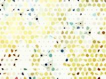 白色淡色黄色五颜六色的小点摘要背景 免版税库存图片