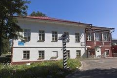 白色湖的博物馆在Belozersk,沃洛格达州地区镇  免版税库存照片