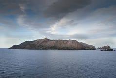 白色火山NZ 免版税库存照片