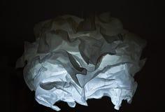 白色灯罩的关闭在黑色 免版税库存照片