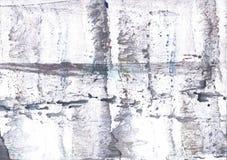 白色烟五颜六色的水彩设计 免版税库存图片
