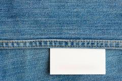 白色牛仔裤标记 库存照片