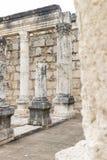 白色犹太教堂的废墟在以色列 免版税图库摄影