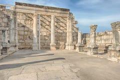白色犹太教堂, Capernaum,以色列 库存图片