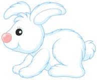 白色玩具野兔 库存图片
