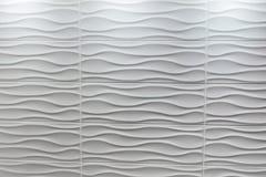 白色瓦片波浪形状 免版税图库摄影