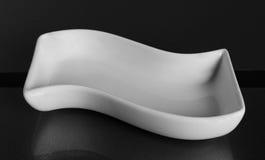 白色瓷碗 免版税库存照片