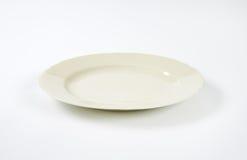 白色瓷菜盘 免版税图库摄影