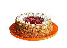 白色生日蛋糕 免版税库存照片