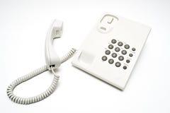 白色电话 免版税库存图片