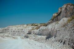 白色白垩或大理石猎物岩石 库存照片