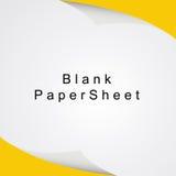 白色白纸板料传染媒介 免版税库存照片