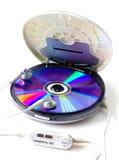 白色的便携式的CD的音频球员 库存图片