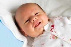 白色的六个星期的婴孩 库存图片