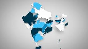 白色的印度蓝色和 库存例证