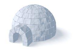 白色的园屋顶的小屋冰室 库存图片