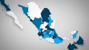 白色的墨西哥蓝色和 库存例证