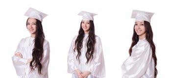 白色的年轻女生 库存图片