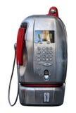 白色的意大利电话亭被隔绝的 可利用的PNG 免版税库存图片