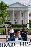 白色的房子移民行军改革  免版税库存照片