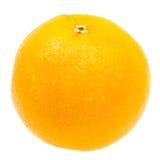 白色的接近的新鲜的查出的桔子 免版税图库摄影