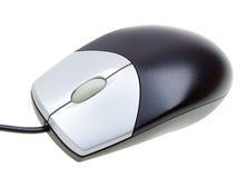 白色的接近的计算机鼠标 库存图片