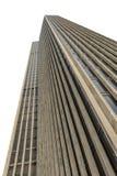 白色的摩天大楼 库存照片