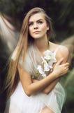 白色的神仙的白肤金发的妇女 库存照片