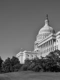 黑&白色的美国国会大厦 免版税库存照片