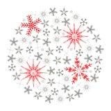 白色的背景圣诞节关闭查出的雪花 库存照片