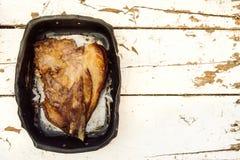 白色的背景接近的肉猪肉 免版税库存图片
