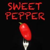 白色的背景接近的胡椒甜点 库存图片